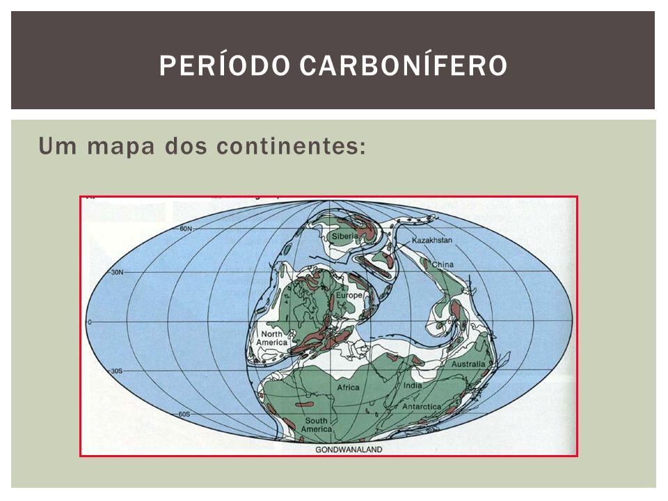 Período carbonífero Um mapa dos continentes: