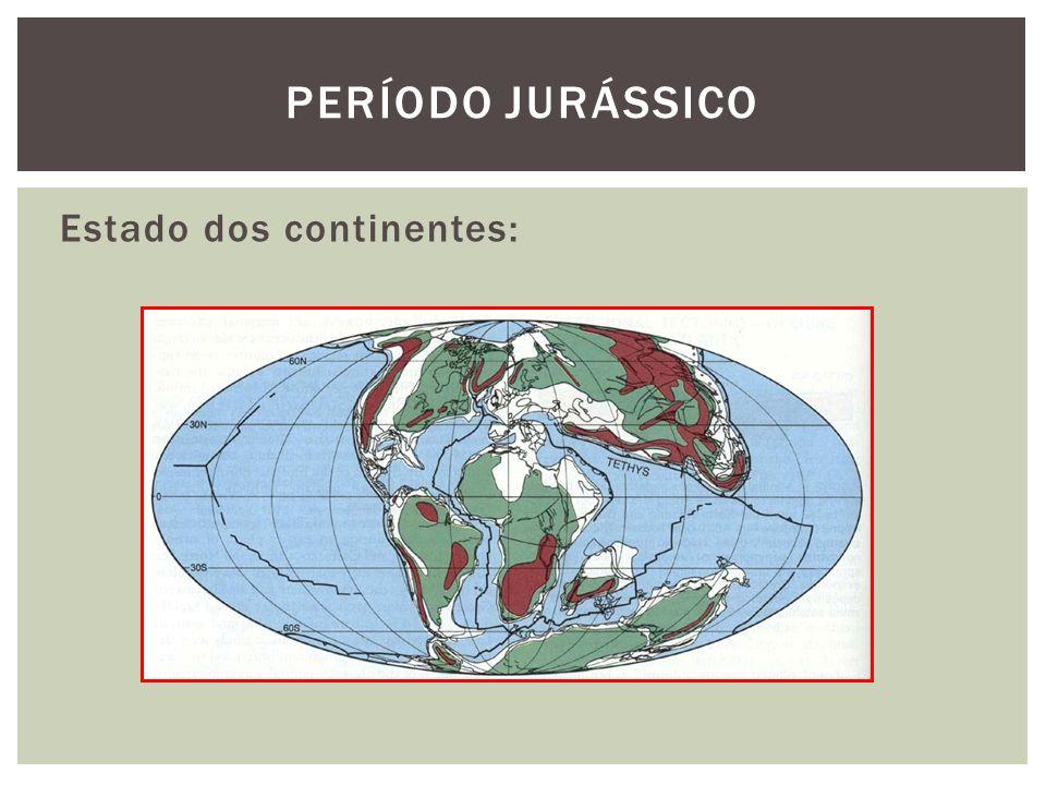 Período jurássico Estado dos continentes: