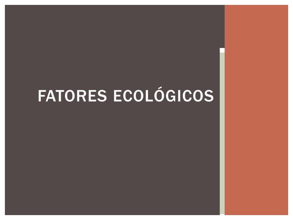 Fatores ecológicos