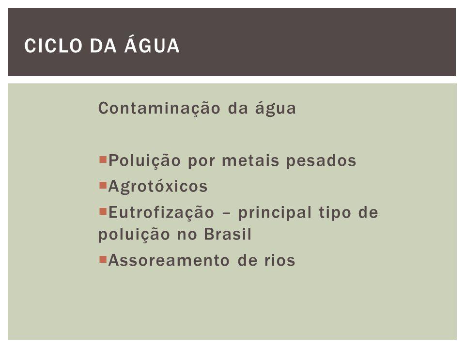 Ciclo da Água Contaminação da água Poluição por metais pesados