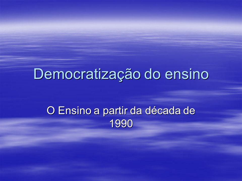 Democratização do ensino