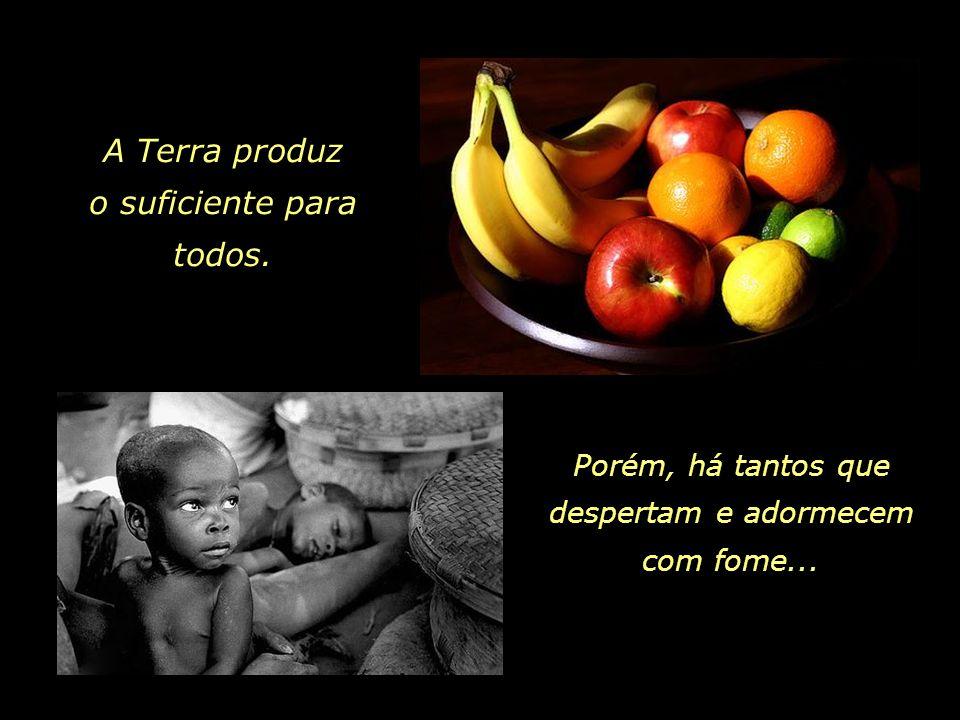 A Terra produz o suficiente para todos.
