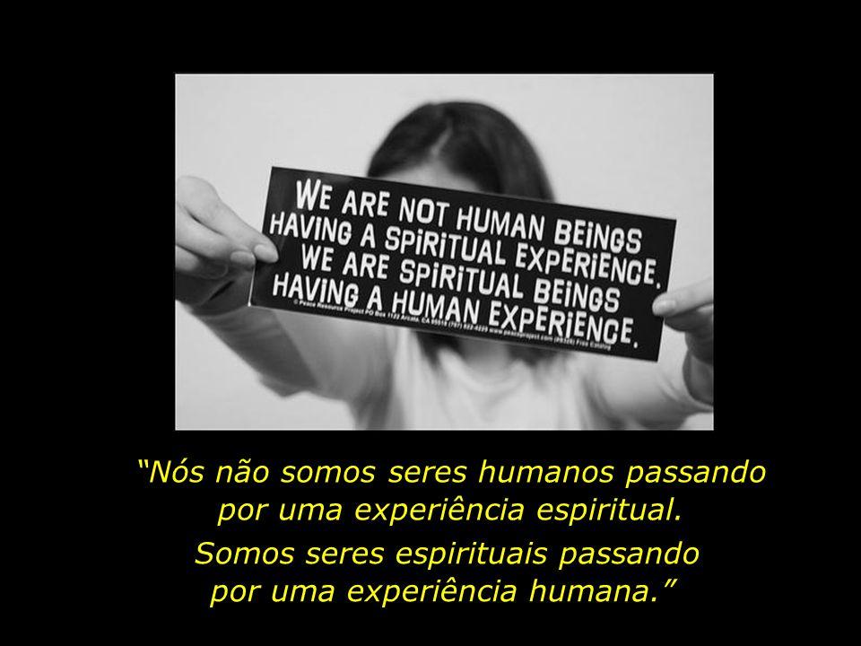 Nós não somos seres humanos passando por uma experiência espiritual.