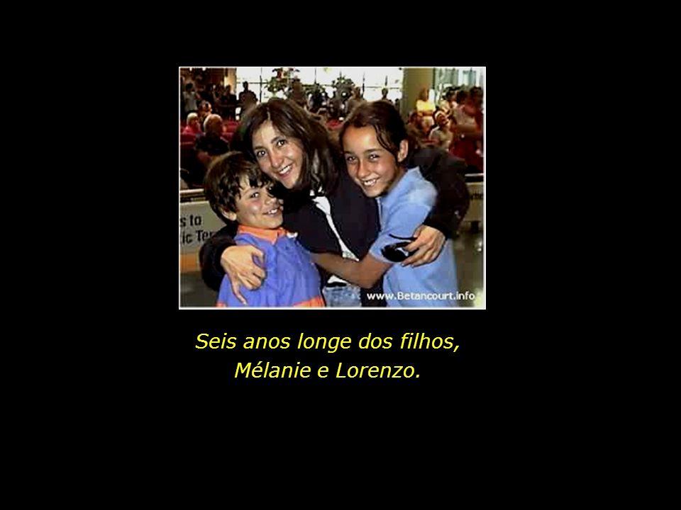Seis anos longe dos filhos, Mélanie e Lorenzo.