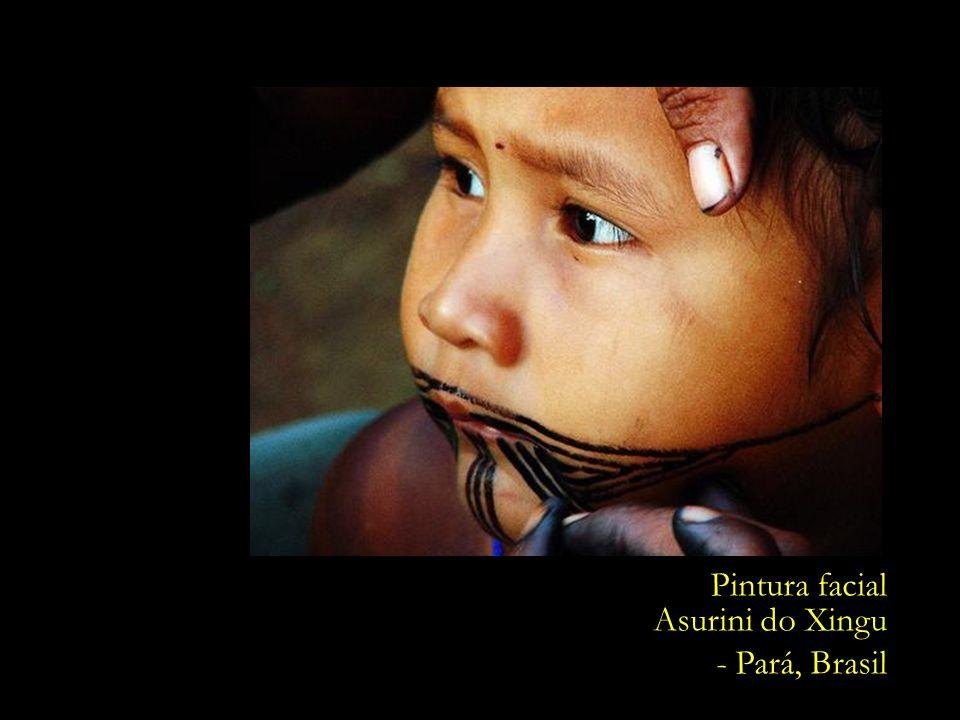 Pintura facial Asurini do Xingu - Pará, Brasil