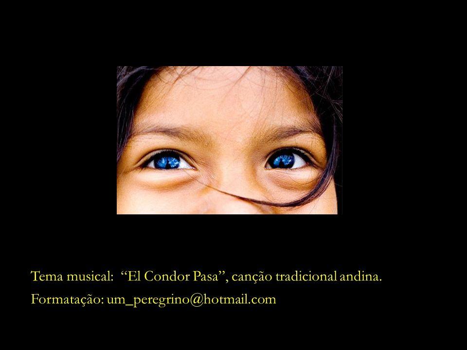 Tema musical: El Condor Pasa , canção tradicional andina.