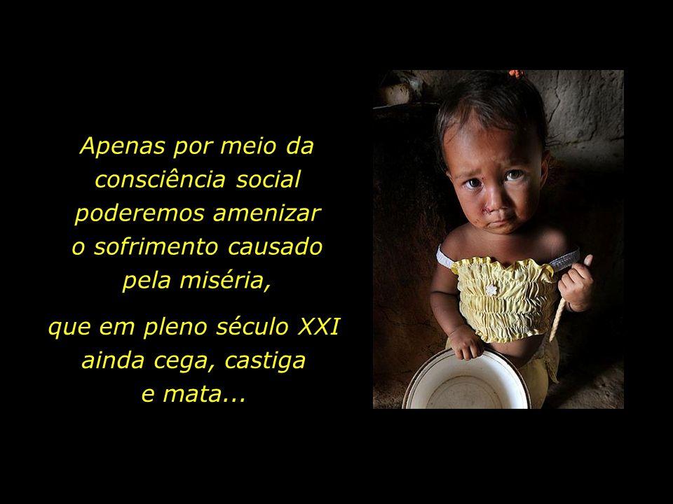 Apenas por meio da consciência social poderemos amenizar