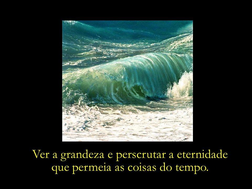 Ver a grandeza e perscrutar a eternidade