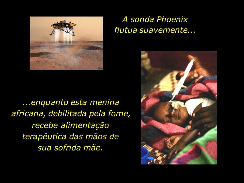 A sonda Phoenix flutua suavemente...