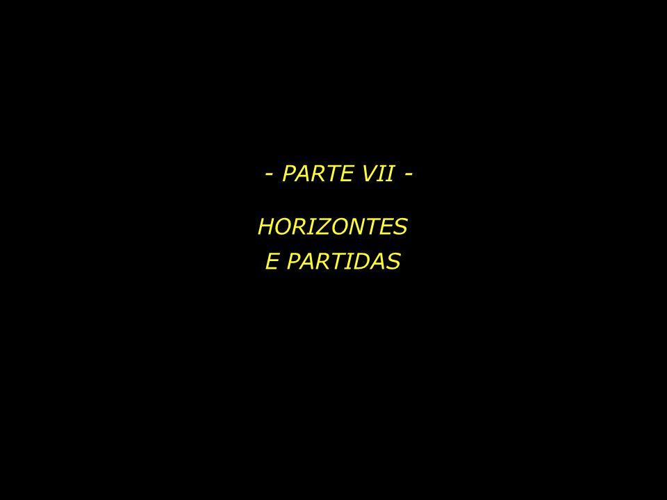 - PARTE VII - HORIZONTES E PARTIDAS