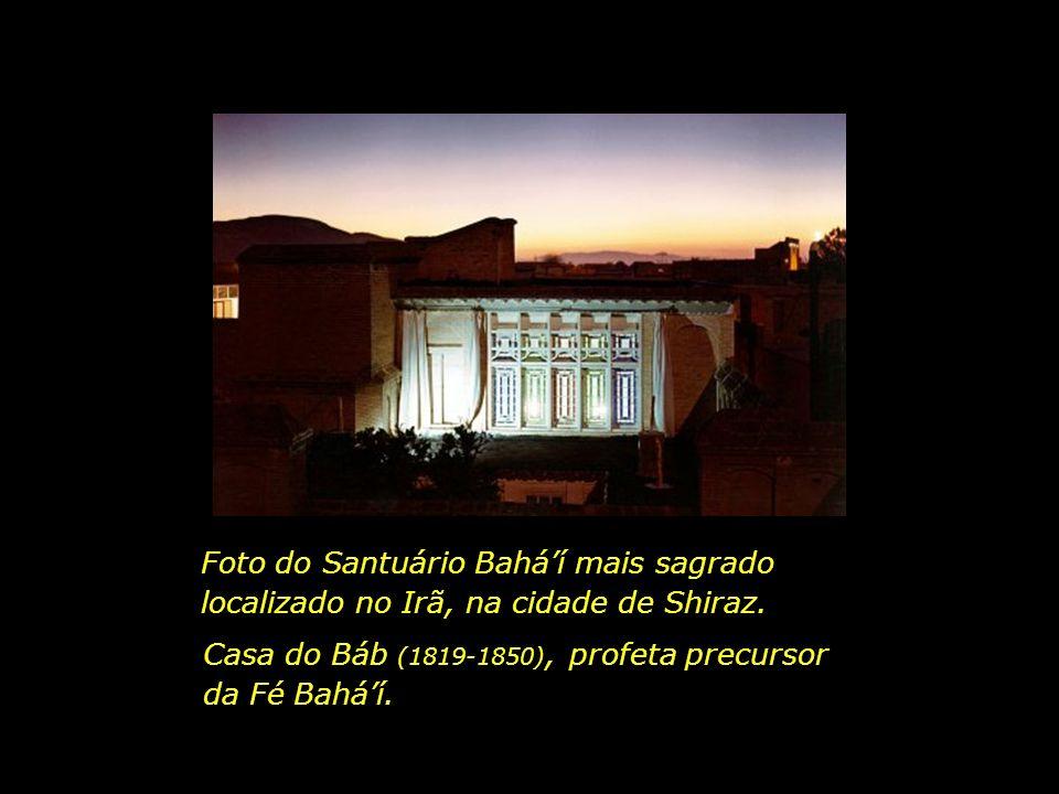 Foto do Santuário Bahá'í mais sagrado localizado no Irã, na cidade de Shiraz.