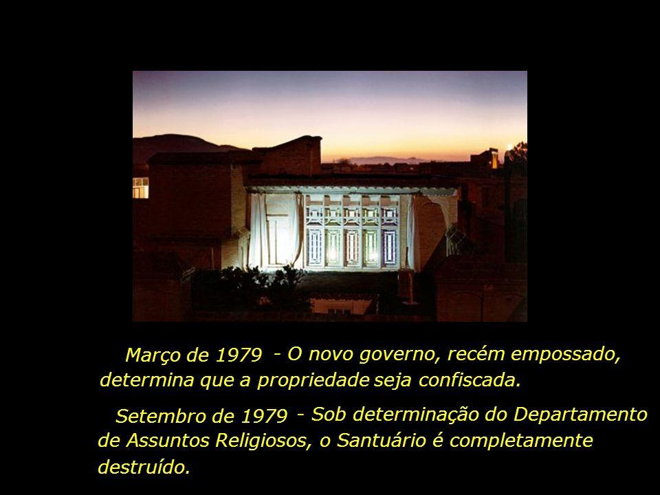 - O novo governo, recém empossado, determina que a propriedade seja confiscada.