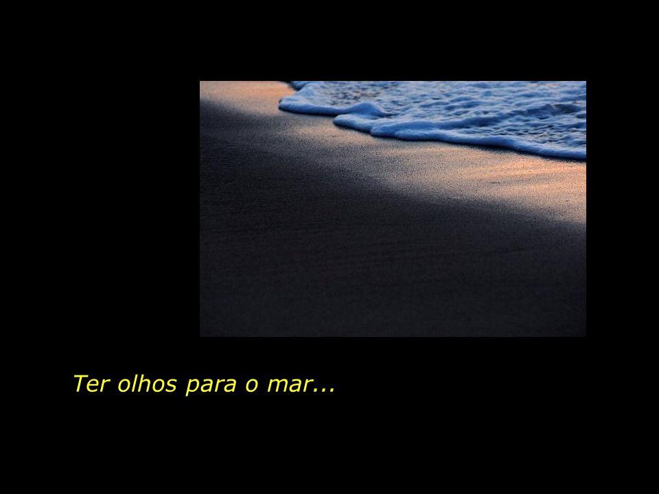 Ter olhos para o mar...