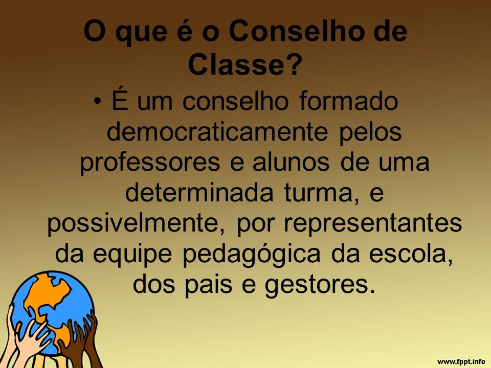 O que é o Conselho de Classe