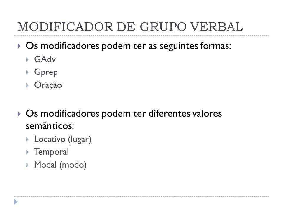 MODIFICADOR DE GRUPO VERBAL