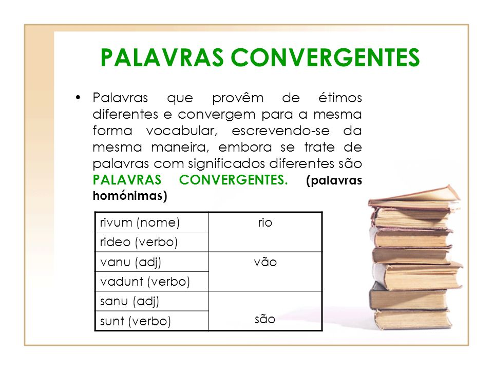 PALAVRAS CONVERGENTES