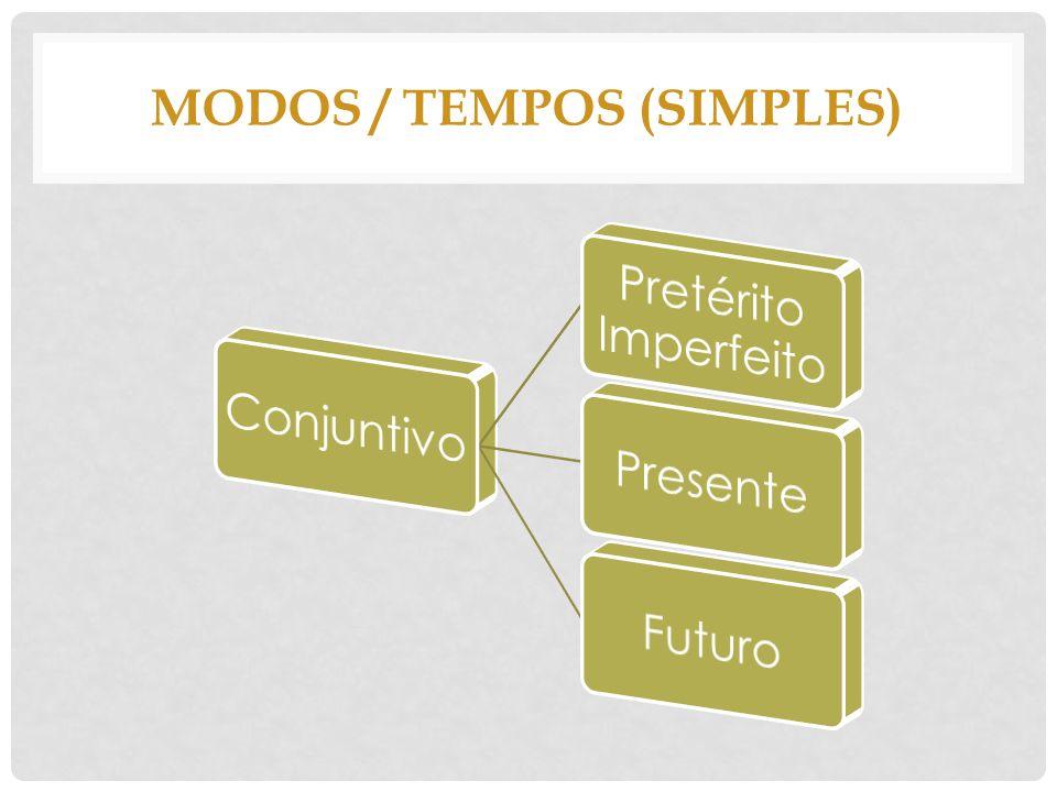 MODOS / TEMPOS (simples)