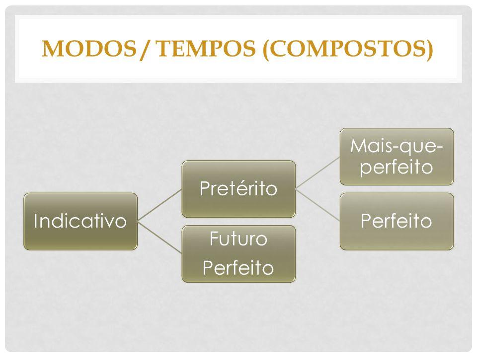 MODOS / TEMPOS (compostos)