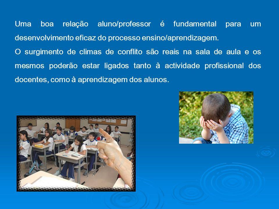 Uma boa relação aluno/professor é fundamental para um desenvolvimento eficaz do processo ensino/aprendizagem.