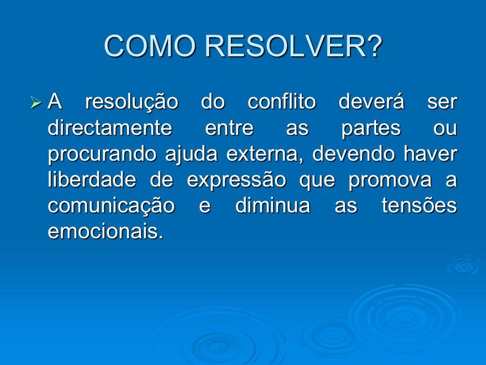 COMO RESOLVER