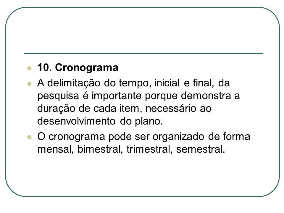 10. Cronograma