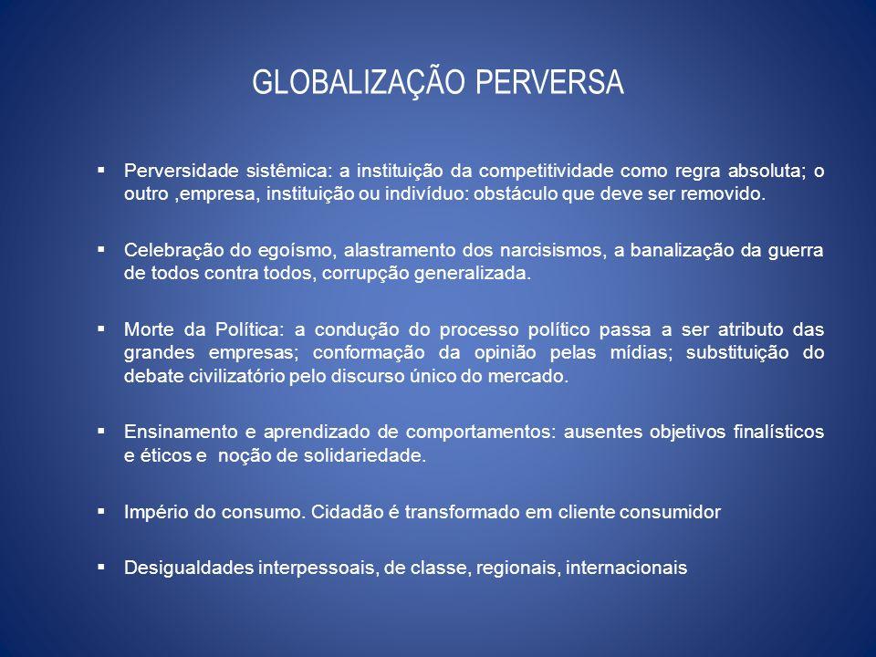 GLOBALIZAÇÃO PERVERSA