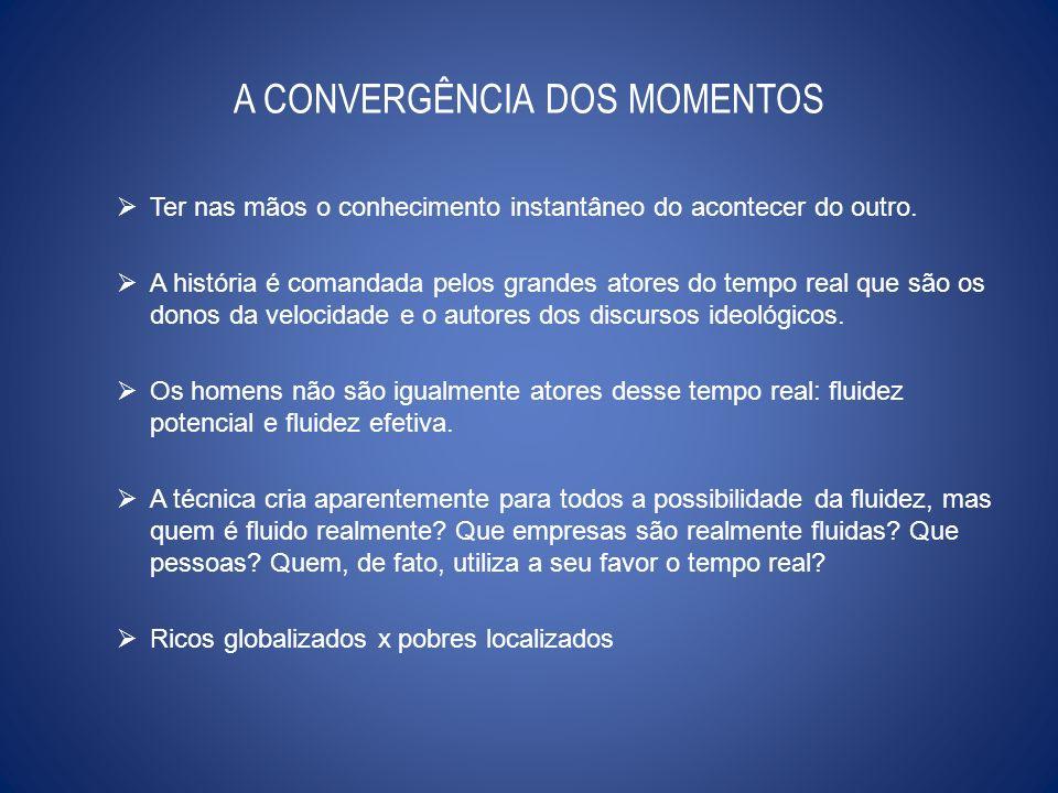 A CONVERGÊNCIA DOS MOMENTOS