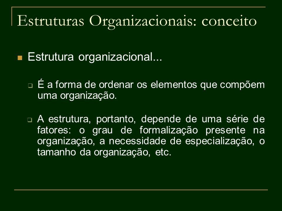 Estruturas Organizacionais: conceito