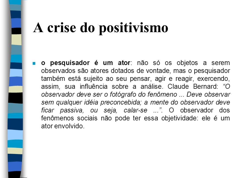 A crise do positivismo