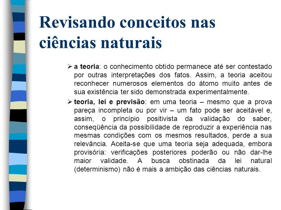 Revisando conceitos nas ciências naturais