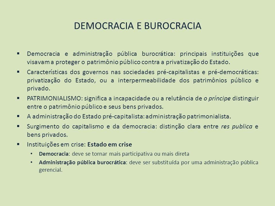 DEMOCRACIA E BUROCRACIA