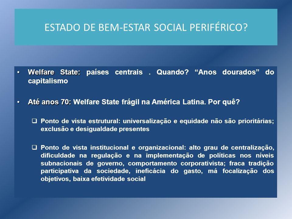 ESTADO DE BEM-ESTAR SOCIAL PERIFÉRICO