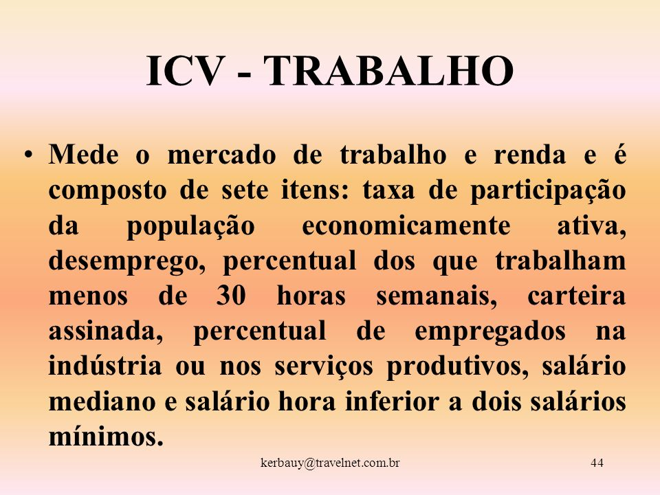 ICV - TRABALHO