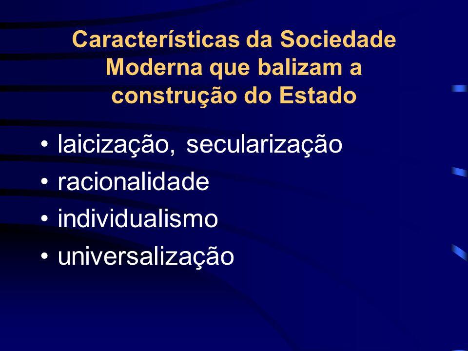 laicização, secularização racionalidade individualismo universalização