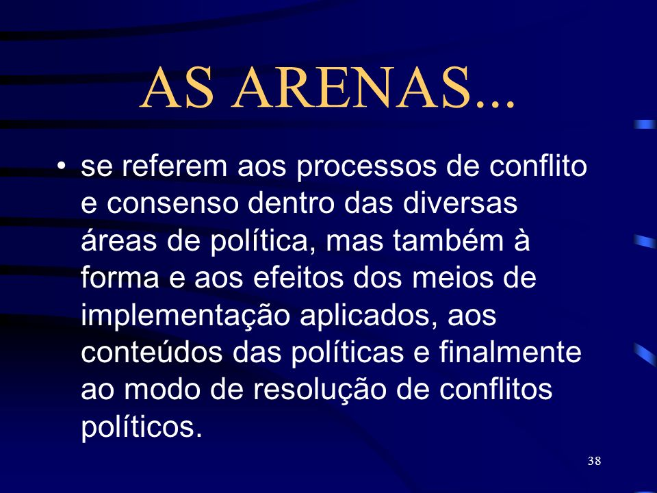 AS ARENAS...