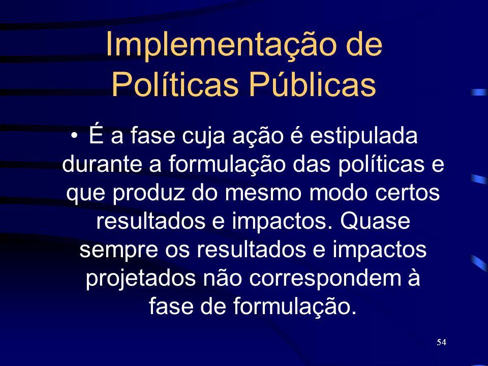 Implementação de Políticas Públicas
