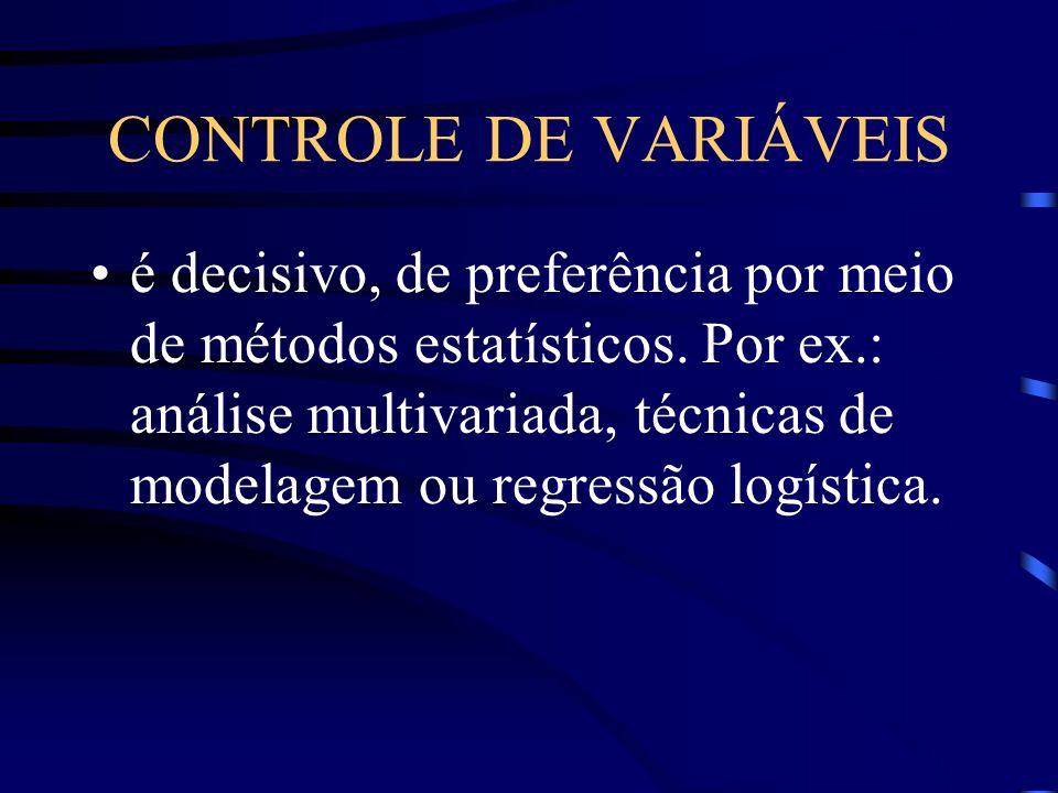 CONTROLE DE VARIÁVEIS