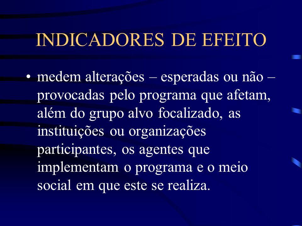 INDICADORES DE EFEITO