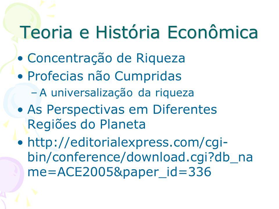 Teoria e História Econômica