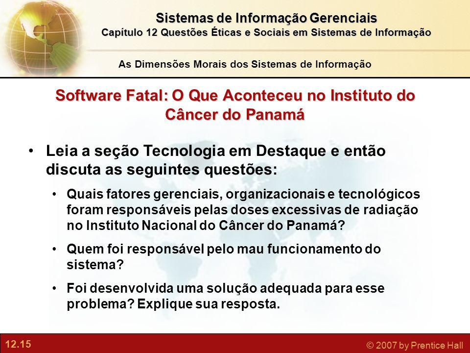 Software Fatal: O Que Aconteceu no Instituto do Câncer do Panamá
