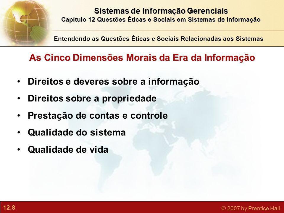 As Cinco Dimensões Morais da Era da Informação