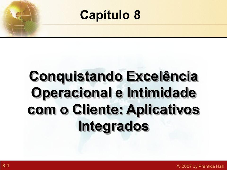Capítulo 8 Conquistando Excelência Operacional e Intimidade com o Cliente: Aplicativos Integrados