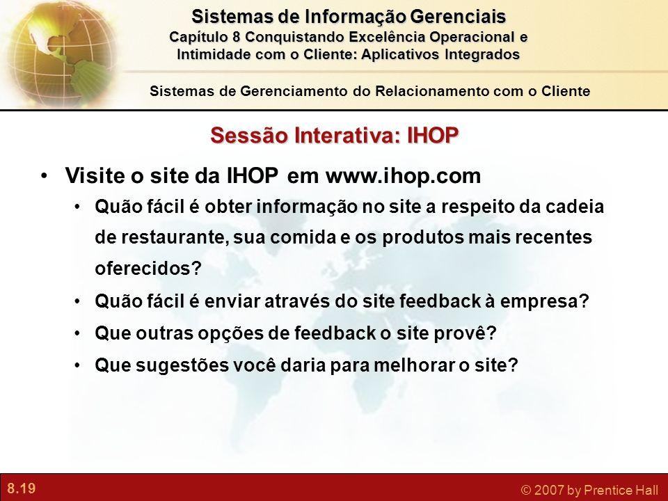Sessão Interativa: IHOP