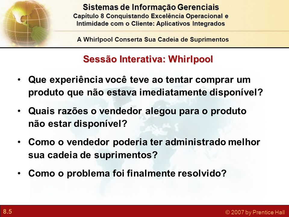 Sessão Interativa: Whirlpool
