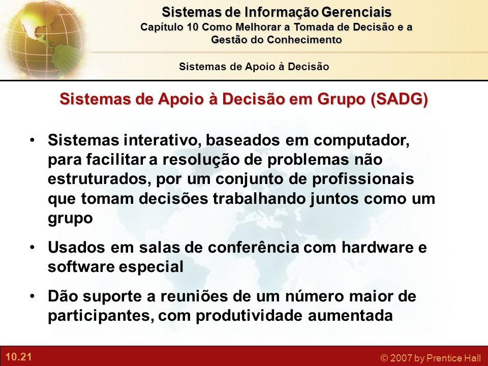 Sistemas de Apoio à Decisão em Grupo (SADG)