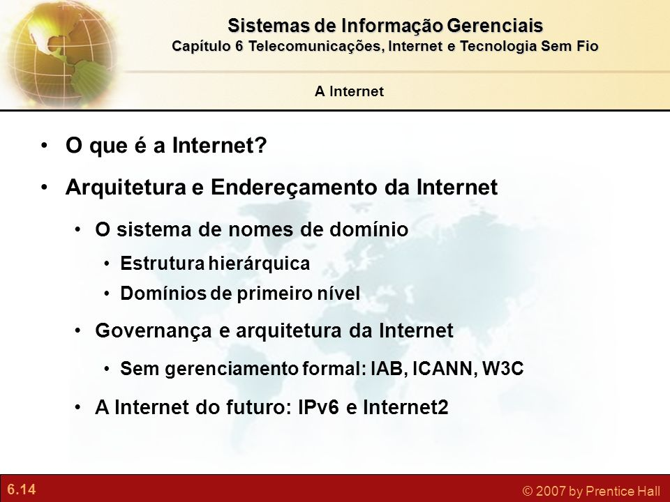 Arquitetura e Endereçamento da Internet