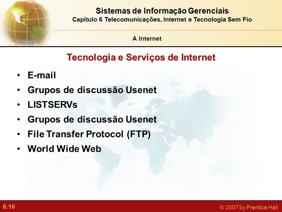Tecnologia e Serviços de Internet