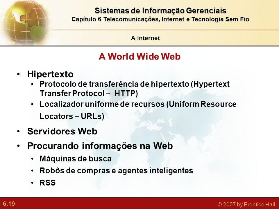 Procurando informações na Web