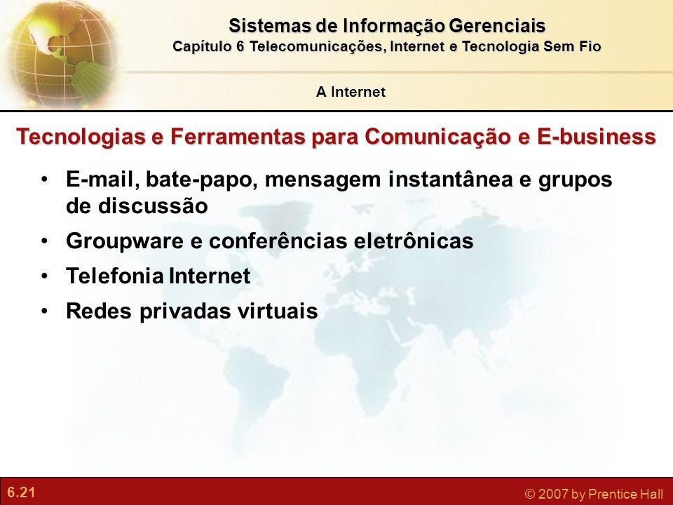 Tecnologias e Ferramentas para Comunicação e E-business