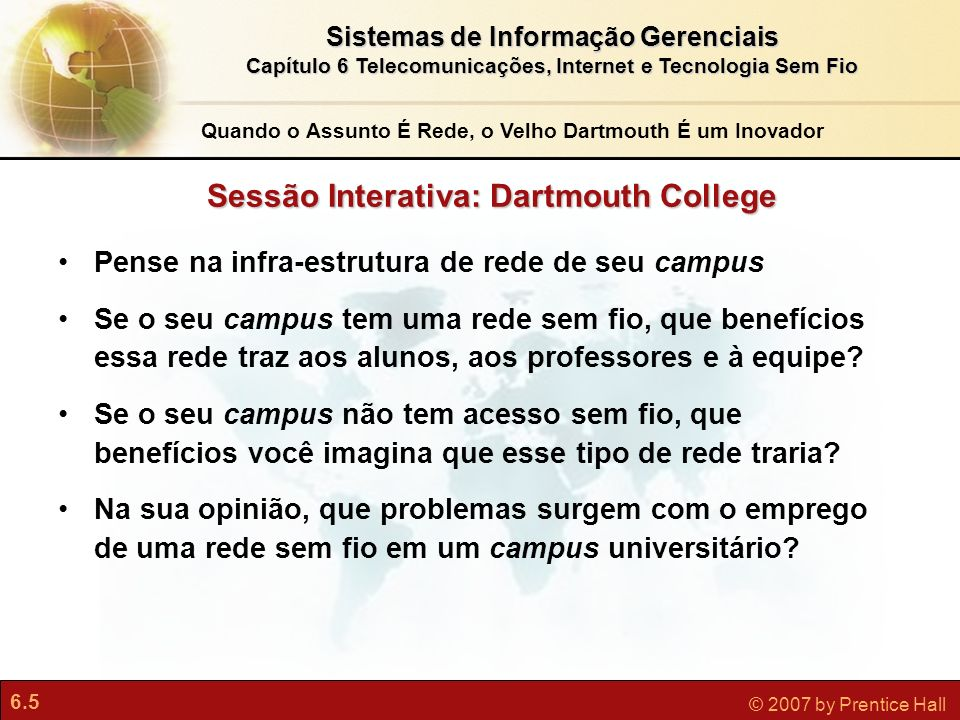 Sessão Interativa: Dartmouth College